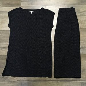 Eileen Fisher Top Pants Set Outfit NWOT Sz XS